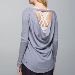 Lululemon • Gray Unity Open Back Pullover